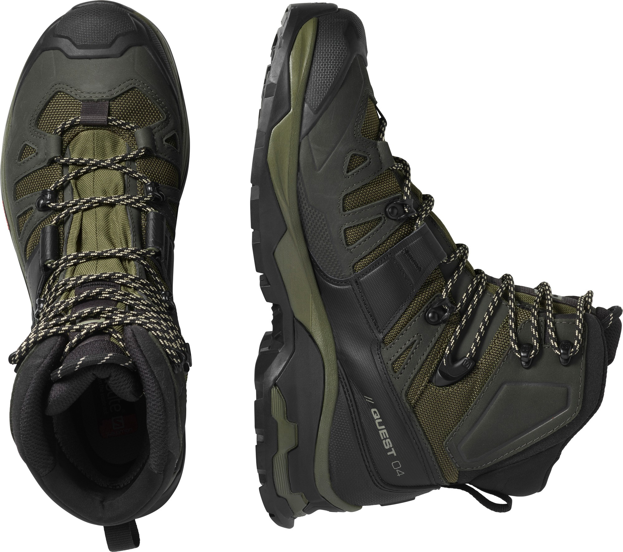 Salomon Mens Quest 4 GTX Backpacking Boot Olive Night//Peat//Safari